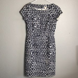 J Crew factory navy and white spring dress Sz 4
